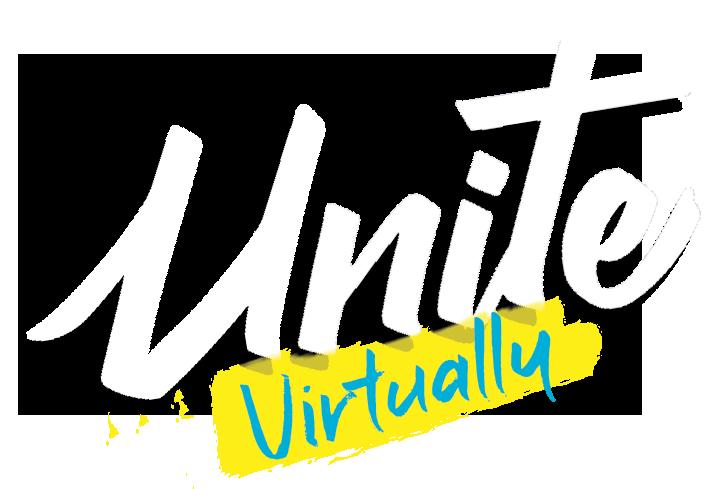 Unite banner in bold script
